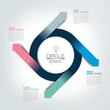 Circle chart, infographic, diagram.
