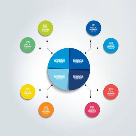 Flowchart diagram, scheme. Infographic element. Vector Illustratie