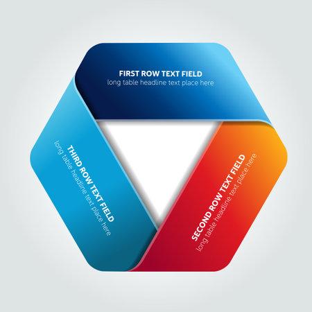 Triangle infographic, chart, scheme. Ilustracje wektorowe