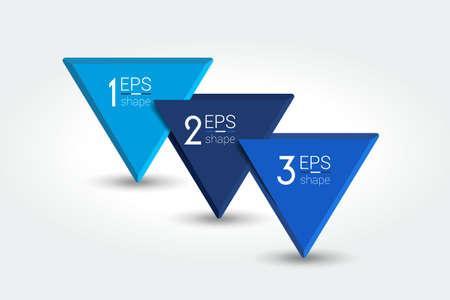 Three steps, parts infographic, chart, diagram. Vector. Vektorové ilustrace