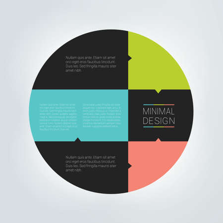 Circle chart, infographic, round template.