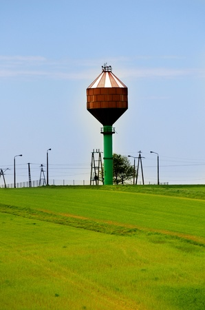 the water tower: water tower Stock Photo