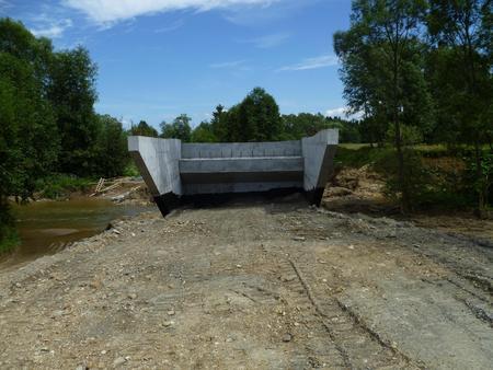 bridge construction Stock Photo