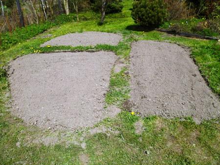 flowerbeds in the garden Stock Photo