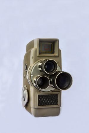 serviceable: antique  8 milimeter  movie  camera