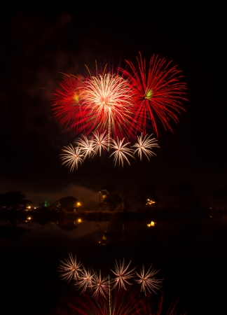 Competition international fireworks in Thailand  photo