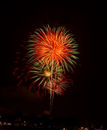 make public: Competition international fireworks in Thailand