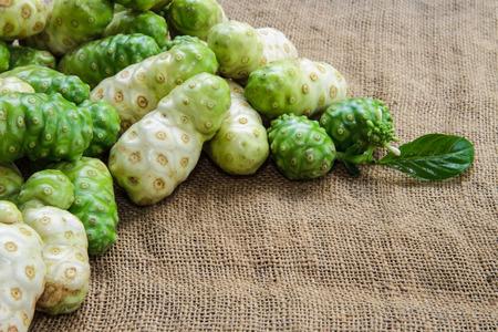 noni fruit: Tropical noni fruit in thailand