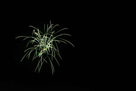 Firework at night in Ubon Ratchathani, Thailand photo