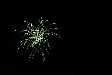 Firework at night in Ubon Ratchathani, Thailand