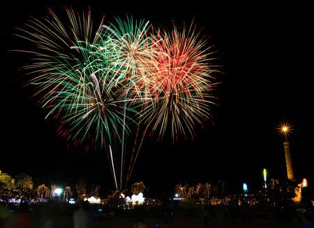 whizz: Fireworks celebration for the king�s birthday in Thailand.