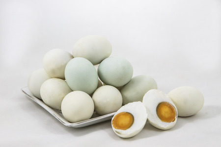 salted: Salted duck eggs are the kind of preservation food.