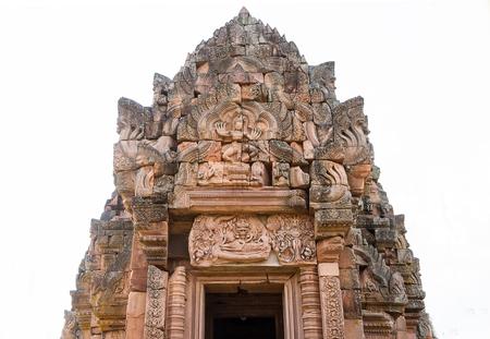 vishnu: Stone carving  told a story of Ramayana  Vishnu  Phra Narai, Emblazoned above the entrance of Phanomrung castle in, Buriram Thailand.