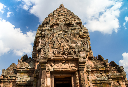 lintel: Phanomrung castle, which is the famous archaeological  place in Thailand.