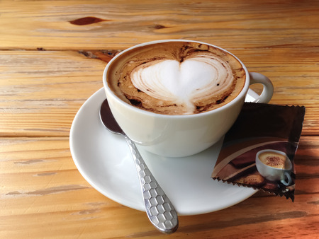 tast: A cup of coffee which has a good, sweet and aroma tast.