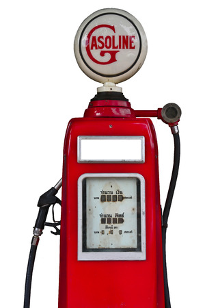 petrochemistry: Estaci�n de combustible antiguo en la ruta 12 Tailandia