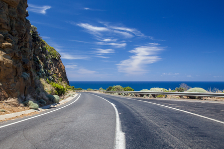 new south wales: Beautiful day on the Great Ocean Highway in New South Wales, Australia Stock Photo