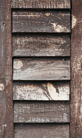 Old wooden background. Old wooden shutters closeup Stock Photo