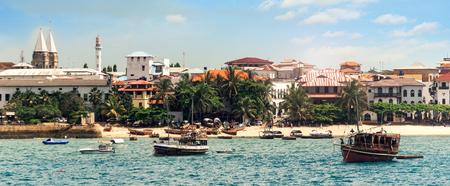 Beach in the stone town on the island of Zanzibar in Tanzania, Africa Foto de archivo