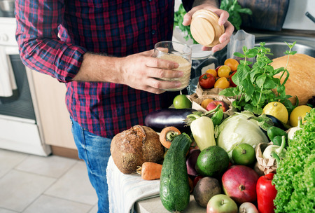 berenjena: Variety of healthy food in the home kitchen