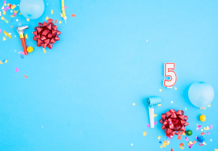 numeric: Birthday party background, close up, top view Stock Photo