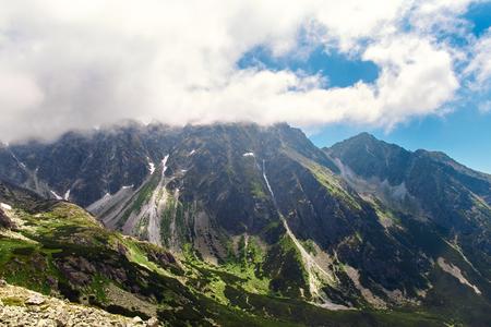Beautiful mountain landscape. High tatras mountains in Slovakia