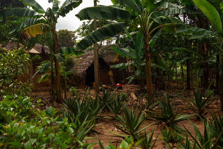 African clay house in a local village 版權商用圖片 - 122577768