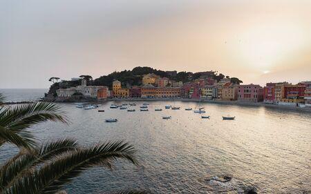 Sestri Levante, Genoa, Italy. Landscape of a beautiful bay in Sestri Levante Stock Photo