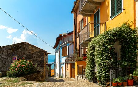 Beautiful streets of Italy. Summer cityscape. Lombardia of Italy