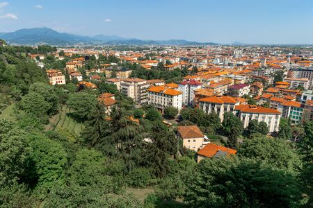 Bergamo, Italy. Beautiful summer cityscape