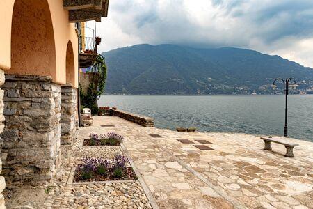 Beautiful landscape on lake como italy Stok Fotoğraf