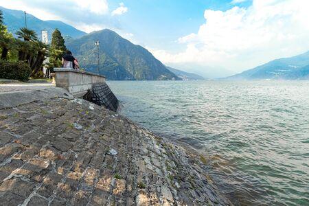 Beautiful landscape on the lake Como Italy