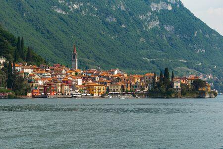 Beautiful panoramic view of Varenna town, Lake Como, Italy