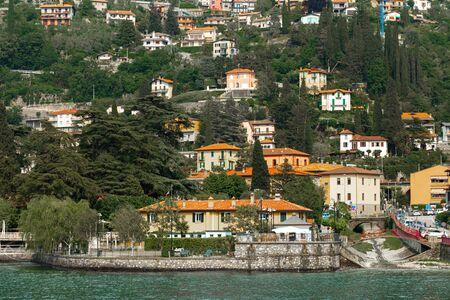 Beautiful panoramic view of lake Como, Italy