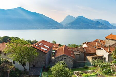 Beautiful view of the village on Lake Como Italy