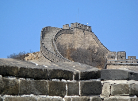 Chinese great wall in spring near Beijing Stock Photo - 17286111