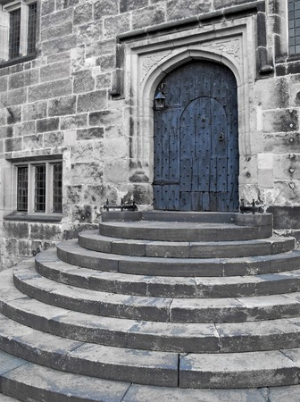 banqueting: Stairways to the banqueting hall at Hoghton Tower Manor in England
