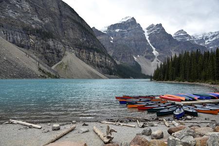 Beautiful lake Lorraine near Banff, Rocky Mountains, Canada