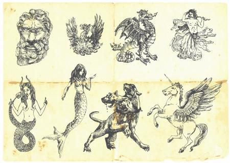 고대 그리스 신화에 따르면 신비로운 생물