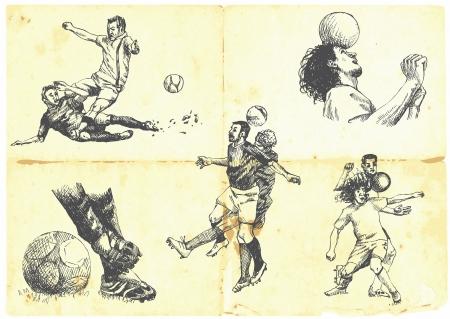 portero: Colecci�n de las diferentes situaciones del juego de f�tbol Vectores