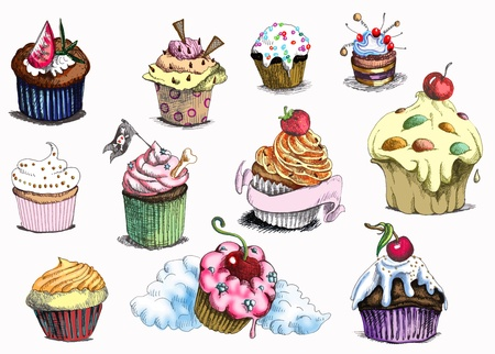 cupcakes - muffins  Vector