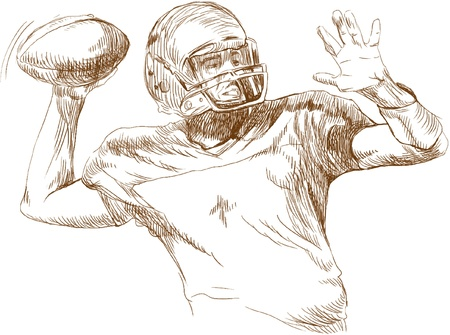 crisp: american football player Illustration