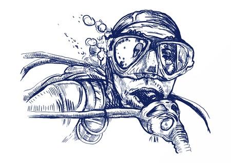 duiker, omgerekend hand tekening