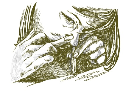 sniffing: sniffing Illustration