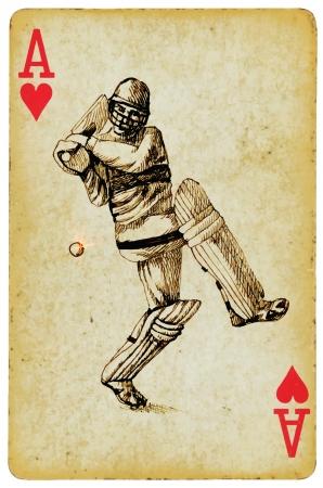 cricket sport: ace of cricket  Illustration