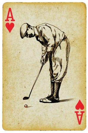 paisaje vintage: as de golf