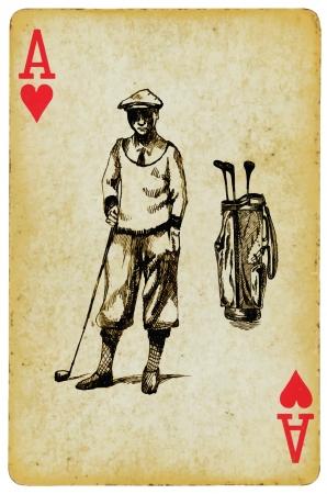 golf stick: as de golf