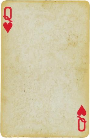 jeu de cartes: reine des coeurs Illustration
