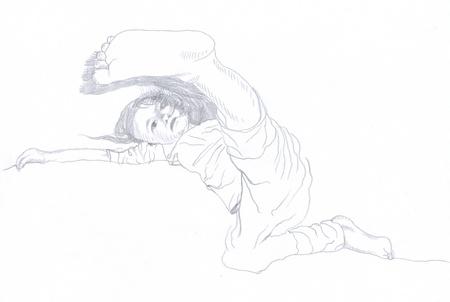 archaically: kick off , original , pencil drawing