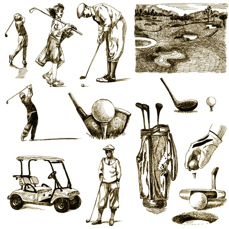 golf collection - hand drawing photo
